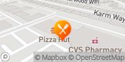Map Pizza Hut Sacramento, United States