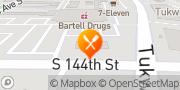 Map Jack in the Box Tukwila, United States