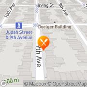 Map Sunset Bakery San Francisco, United States