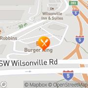 Map Burger King Tualatin, United States