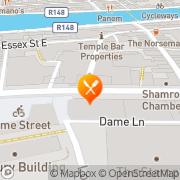 Map The Mermaid Café Dublin, Ireland
