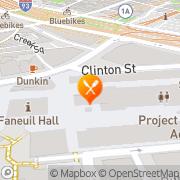 Map Wagamama Boston, United States