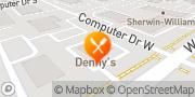 Map Denny's Albany, United States