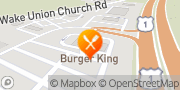 Map Burger King Wake Forest, United States