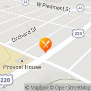 Map Denny's Restaurant Keyser, United States