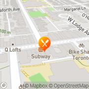 Map Pizza Memo Toronto, Canada