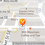 Map Billy's Roanoke, United States