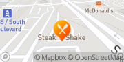Map Steak 'n Shake Charlotte, United States