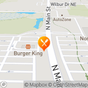 Map Burger King North Canton, United States