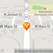 Map Main St Pizza and Subs Holmesville, United States