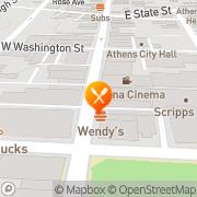 Map Burger King Athens, United States