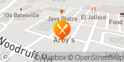Map Arby's Simpsonville, United States