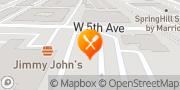 Map Burger King Columbus, United States