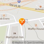 Map Waffle House Jeffersonville, United States