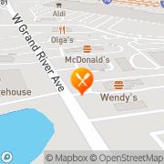 Map Burger King Brighton, United States
