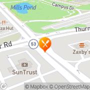 Map Subway Oakwood, United States