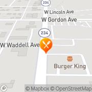 Map Burger King Albany, United States