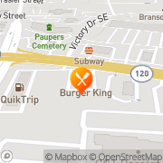Map Burger King Marietta, United States