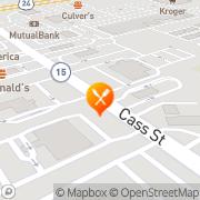 Map Burger King Wabash, United States