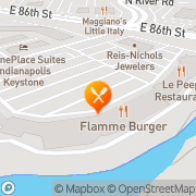 Map Flamme Burger Indianapolis, United States