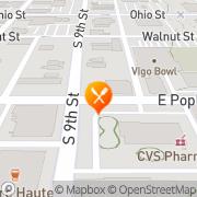 Map M. Moggers Restaurant & Pub Terre Haute, United States