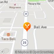 Map Burger King Carpentersville, United States
