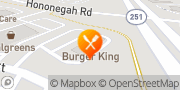 Map Burger King Roscoe, United States