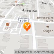 Map Back Yard Burgers Memphis, United States