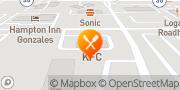 Map KFC Gonzales, United States