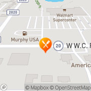 Map Carl's Jr Skiatook, United States