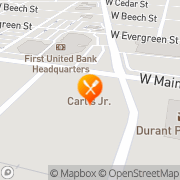 Map Carl's Jr. Durant, United States