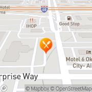 Map Burger King Oklahoma City, United States
