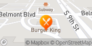 Map Burger King Salina, United States