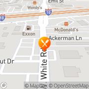 Map Bill Miller Bar-B-Q San Antonio, United States