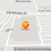 Map Pizza Hut Express San Antonio, United States
