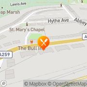Map The Bull Inn Hastings, United Kingdom