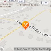 Carte de SENOCHES TRAITEMENTS DE DONNEES INFORMATIQUES Senonches, France