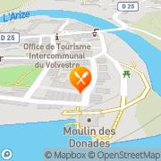 Carte de Rigaud Equipement Rieux, France