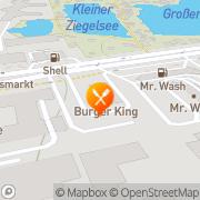 Karte Burger King Hamburg, Deutschland