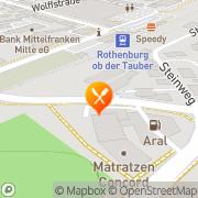 Karte Burger King Rothenburg, Deutschland