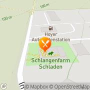 Karte Restaurant zur Schlangenfarm Schladen, Deutschland
