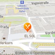 Karte Restaurant Zur Sonne Lübeck, Deutschland