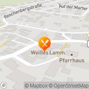 """Karte Landgasthof """"Weißes Lamm"""" Engelthal, Deutschland"""
