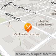 Karte Parkhotel Plauen, Deutschland
