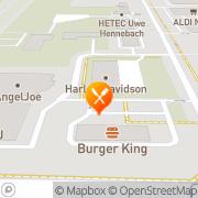 Karte Burger King Rostock, Deutschland