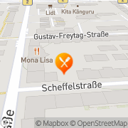 Karte Mona Lisa Leipzig, Deutschland