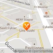 Kort Lins Sushi København, Danmark