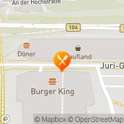 Karte Burger King GmbH Neubrandenburg, Deutschland