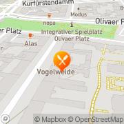 Karte Restaurant Vogelweide Berlin, Deutschland