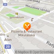 Map Pizzeria & Restaurant Mikulášská Pilsen, Czech Republic